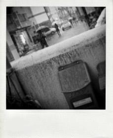雪でも傘だ